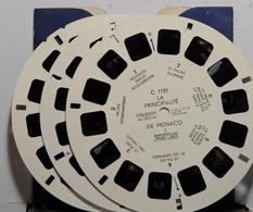 VIEW MASTER  C 1151  LA PRINCIPAUTÉ DE MONACO  I-II-III   3 DISQUES  SANS POCHETTE - Stereoscopes - Side-by-side Viewers