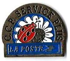 LP78 - LA POSTE - CCP SERVICE PLUS - COCCINELLE Et FLEUR - Verso : ACO'DIS - Mail Services