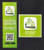 Duo Marque Page + Autocollant.   TV5 Monde Afrique. - Marque-Pages