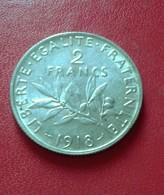 FRANCE 2 FRANCS SEMEUSE 1918       N°16DE - France