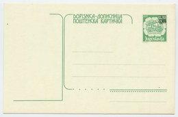 YUGOSLAVIA 1990 Postal Coach Surcharge 0.80 On 0.30 D. Postcard, Unused.  Michel P203 - Postal Stationery