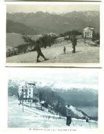MOTTARONE Albergo Grand Hôtel E M. Zeda Inverno E Neve 2 Cartoline Una Vera Foto C. 1920 - Italië