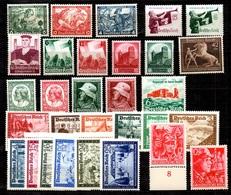 Allemagne/Reich Belle Petite Collection De Bonnes Valeurs Neufs ** MNH 1933/1945. TB. A Saisir! - Allemagne
