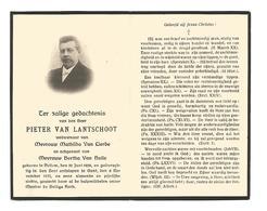 D 43. PIETER VAN LANTSCHOOT  Echtg. B. Van Hulle - ° BELLEM 1859 / + GENT 1923 - Images Religieuses
