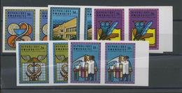 Medecine Chimie Université  Paire Non Dentelée  672/677 De 1975 - Rwanda