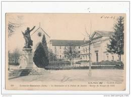 39 LONS LE SAUNIER LE SEMINAIRE ET LE PALAIS DE JUSTICE STATUE DE ROUGET DE L ISLE CPA BON ETAT - Lons Le Saunier