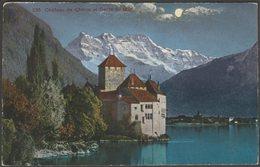Château De Chillon Et Dents Du Midi, Veytaux, Vaud, 1924 - Jaeger CPA - VD Vaud