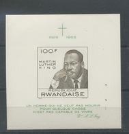 1968 Martin Luther King  Bloc NON DENTELE  Imperforate - Rwanda