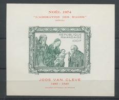 1974  NOEL   Bloc NON DENTELE  Noel Peinture De Joos Van Cleve - Rwanda