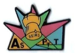LP87 - LA POSTE - AS PTT - REIMS - Verso : CREATION GG - Postes