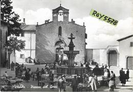 Lazio-viterbo Citta Piazza Del Gesu Anni 50 Veduta Animatissima Mercato Giornaliero - Viterbo