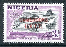 Cameroon - Nigeria Pictorials Overprints - 3d Jebba Bridge And River Niger LHM (SG T5) - Cameroon (1960-...)