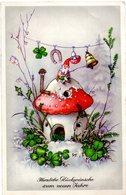 GNOMI-GNOMES-LUTINS-NAINS-ZWERGE - ANNO NUOVO - NEUEN JAHRE - FUNGO - MUSHROOM - N 118 - Nouvel An
