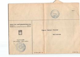 L1147 DIREZIONE DELLE POSTE BELLINZONA - SUL RETRO TIMBRO  MOLINAZZO - Storia Postale
