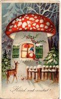 GNOMI-GNOMES-LUTINS-NAINS-ZWERGE - FUNGO - MUSHROOM - CERBIATTO - N 120 - Fêtes - Voeux