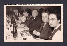 Photo Originale Fete Credit Lyonnais Nancy  27 XII 1958 Banque Repas - Automobiles