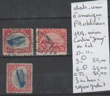 TIMBRES EN LOT DES ETAT-UNIS PA  OBLITEREES  Nr 3-6 PA   COTE 95 € - Poste Aérienne