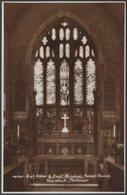 High Altar & East Window, Parish Church, Tavistock, Devon, C.1950 - Sweetman RP Postcard - England