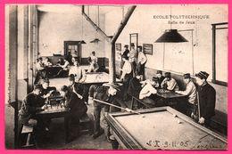 Ecole Polytechnique - Salle De Jeux - Militaire - Billard - Echecs - Chess - Animée - J.DAVID - 1905 - Cartes Postales