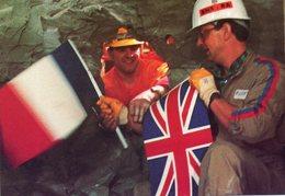 - EUROTUNEL - Echange De Drapeaux Le 1er Décembre 1990 - - Inaugurations