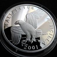 Korea North 7 Won 2001 Eagle Birds - Corea Del Norte