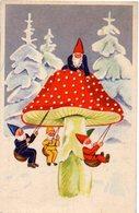 GNOMI-GNOMES-LUTINS-NAINS-ZWERGE - FUNGO- MUSHROOM - NEVE - N 129 - Fêtes - Voeux