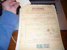 FF5 Document Commercial   Facture  Appareils électroménager Electromix Bruxelles - Belgique