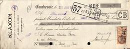 Lettre De Change - Courbevoie - Société Klaxon, 1930 - Bills Of Exchange