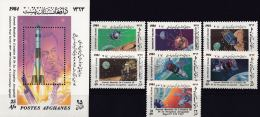 Afghanistan 1984 S/Sheet & Stamps Space Apollo MNH - Afghanistan