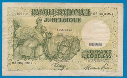 BELGIE - 50 FRANK OF 10 BELGA - 26-01-1946  GOEDE STAAT - 2 SCANS - [ 2] 1831-... : Belgian Kingdom