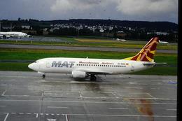 DIAPOSITIVA  SLIDE  AEREO BOEING 737  MAT A  ZURIGO - Diapositives (slides)