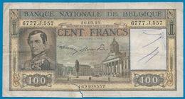 BELGIE - 100 FRANK 26.03.49  - MET SCHEURTJE ONDERAAN - 2 SCANS - [ 2] 1831-... : Belgian Kingdom