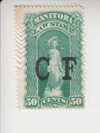 Canada Fiskale Egel Cat. Van Dam/Barefoot Staat Manitoba Consolidated Fund 12 - Steuermarken