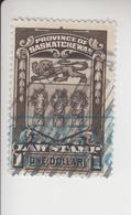 Canada Fiskale Egel Cat. Van Dam/Barefoot Staat Saskatchewan Law Stamp 39 - Steuermarken