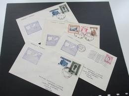 Polen 1958 BEA First Call At Poznan 4 Belege Mit Den Jeweiligen Flugstrecken! - Luftpost