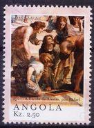 1520 School Of Athens, Rafael Painting, Angola 2000 MNH Millennium - Art