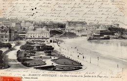 CPA BIARRITZ - LES DEUX CASINOS ET LES JARDINS DE LA PLAGE - Biarritz