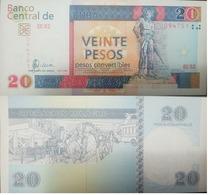 L) 2008 CUBA, BANKNOTES, CAMILO CIENFUEGOS, 20 PESOS, CONVERTIBLE WEIGHTS, OPERATION MILAGRO, PEOPLE, VIEW, BUS, AIRPLAN - Cuba