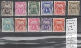 TIMBRES EN LOTS DE FRANCE NEUF ** LUXE  Nr VOIR SUR PAPIER AVEC TIMBRES COTE 24.70  € - 1859-1955 Neufs