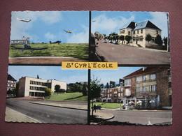 CPA CPSM PHOTO 78 SAINT CYR L'ECOLE  Années 1960 Multivues : Terrain Aviation , Poste , Mairie , Tabac LE BALTO - St. Cyr L'Ecole