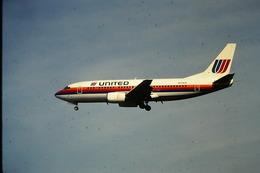 DIAPOSITIVA  SLIDE  AEREO BOEING 737  UNITED - Diapositives (slides)