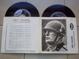 ITALIA MUSSOLINI 2 DISCHI IN VINILE DELLA COLLANA LE VOCI CELEBRI - Vollständige Sammlungen