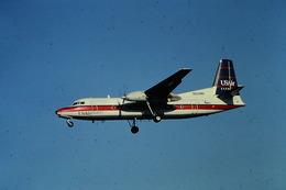 DIAPOSITIVA  SLIDE  AEREO FOKKER F 27 US AIR - Diapositives (slides)