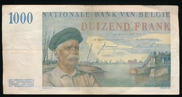 BELGIE 1000 FRANK 03.03.55  - 2 AFBEELDINGEN - GOEDE EN MOOIE STAAT - [ 2] 1831-... : Koninkrijk België