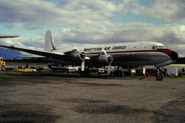 DIAPOSITIVA  SLIDE  AEREO DOUGLAS DC6 NORTHERN AIR CARGO - Diapositives (slides)