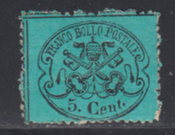 Etats Pontificaux 1868 Yvert 21 * TB Charniere(s) - Etats Pontificaux
