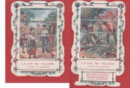 Une  Image à Tirette Avant Et Après Le Passage Des Allemands - 1914-18