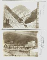 CARRARA 2 Vere Foto 1911 Cave E Trasporto MARMI - Carrara