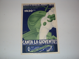 ITALIA RIVISTA SPARTITO CANZONI BELLE CONCORSO MARAMEO DI TRIESTE 1930 ILLUSTRAZIONE FERENZI - Music & Instruments