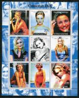 CAMERON DIAZ,Movie On SOUVENIR SHEET 9 STAMPS,MNH,MINT,#DA259 - Famous Ladies